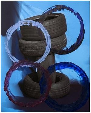 untitled (tires, violet) by sam falls