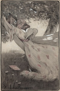 patty sits in the hammock by clara d. davidson