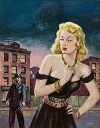 crimson crimes of the lustful ladies! best true fact detective magazine cover by howell dodd