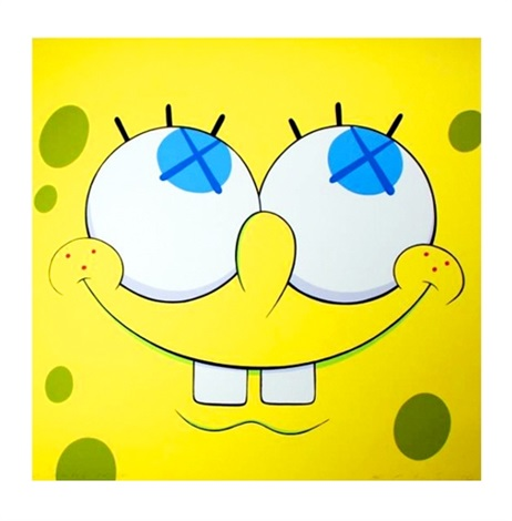 spongebob yellow by kaws