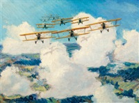 world war i biplanes by charles h. hubbell