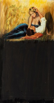 passionate couple, paperback cover by jack faragasso