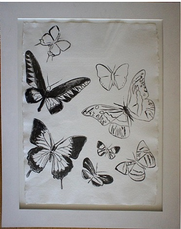 untitled butterflies by andy warhol