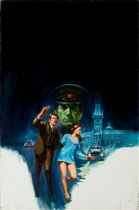 exit from prague, paperback cover by jack faragasso