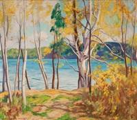 springtime lake scene by john newton howitt