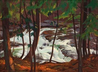 a stream in the woods by john newton howitt