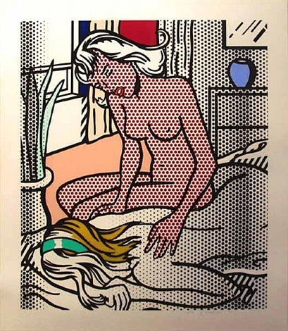 two nudes (from nude series) by roy lichtenstein