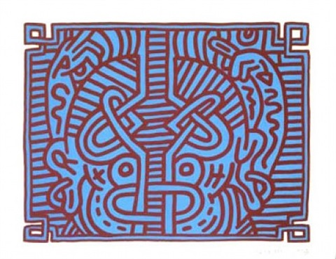 chocolate buddha 1 by keith haring