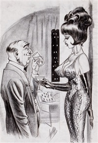 it took me a year to make my last picture. i had to take three times off to get married, humorama cartoon illustration by bill ward