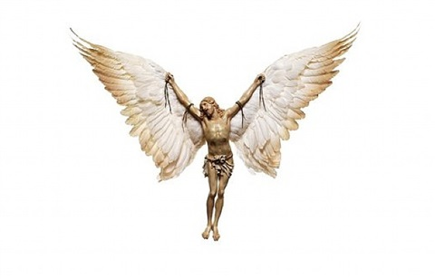 jesus with wings (white) by nancy fouts