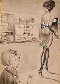 fulbrick for congress, cartoon illustration by bill ward