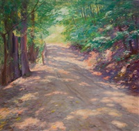 a road in the woods by john newton howitt