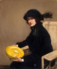 portrait of a woman by john newton howitt