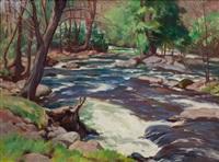 stream landscape by john newton howitt