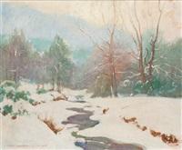 snow landscape by john newton howitt