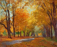 fall landscape by john newton howitt
