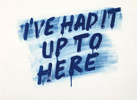 i've had it up to here by mel bochner
