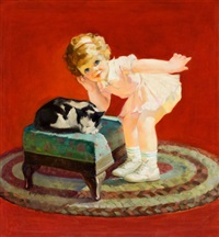 petting the kitten by george rapp