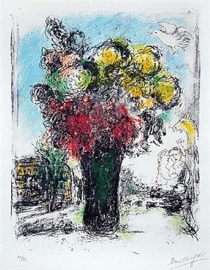 le bouquet by marc chagall