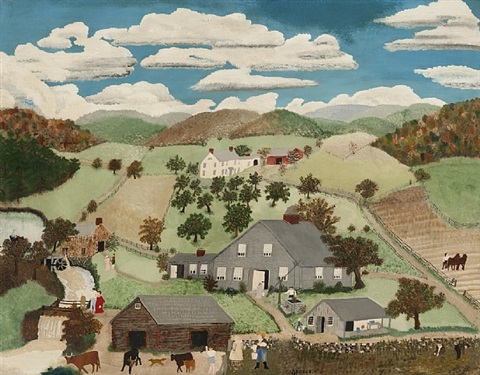 old oaken bucket by grandma moses