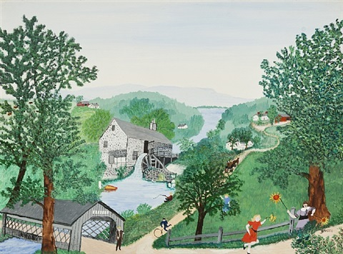 the oaks by grandma moses