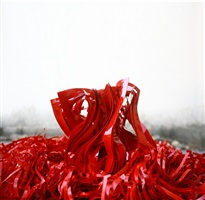 red presence (detail) by jukhee kwon