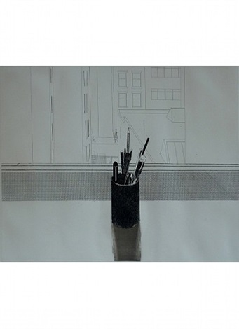still life with pencils by david hockney