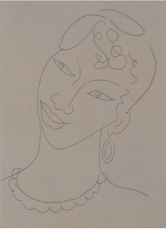 portrait of a martinican woman / la martiniquaise by henri matisse