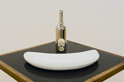 bottle & skull by james hopkins