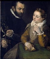double portrait with the della rovere family emblem by federico barocci