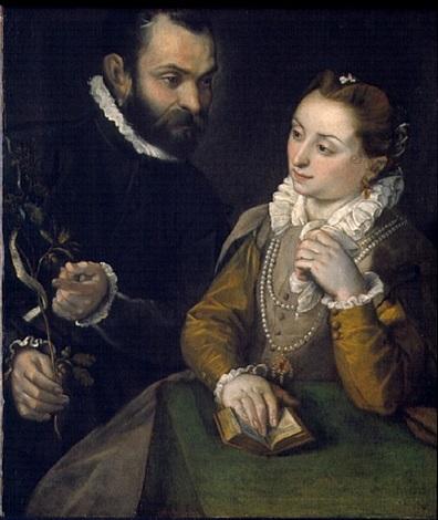 double portrait with the della rovere family emblem by federico barocci
