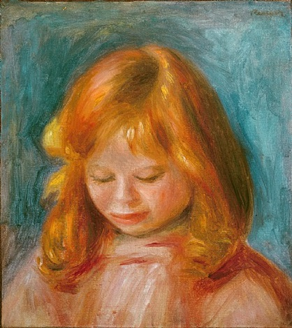 portrait of jean renoir by pierre-auguste renoir