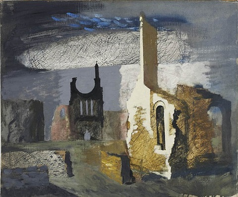 byland abbey by john piper