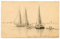 fishing sloops by henry farrer