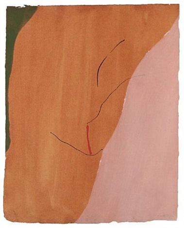 sanguine mood by helen frankenthaler