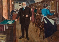 voices of great americans, alexander graham bell (study for jersey standard calendar) by william arthur smith