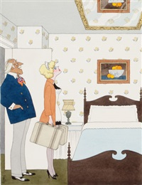 and this will be your room, my dear, playboy cartoon illustration by francis wilford smith