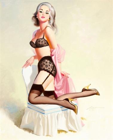 27f03b6109c Delightful platinum blonde pin-up by Donald Rust on artnet