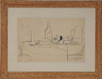 tabletop still life by jean dufy