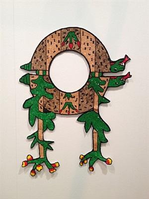 tudela en traje de chinelo (tudela in a chinelo suit) <br>01: tortuga serpiente flor / turtle, serpent, flower by mariana castillo deball