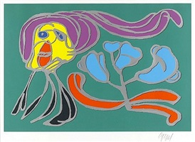 flower floating by karel appel