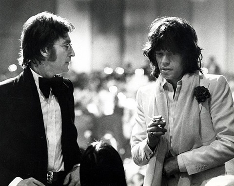 john lennon, mick jagger and may pang attend the 2nd annual afi lifetime achievement awards honoring james cagney at the beverly hilton hotel by ron galella