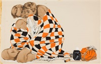 the checkered blanket, story illustration by j. frederick smith