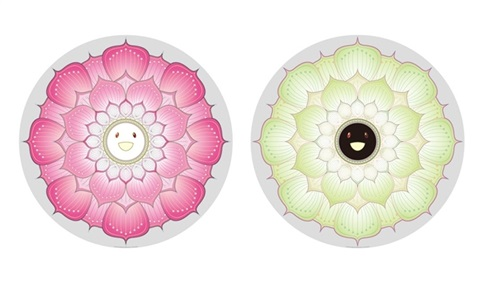 lotus flower pink lotus flower white 2 works by takashi murakami