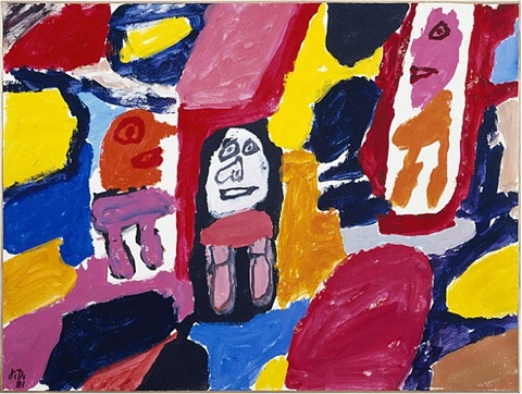 site avec 3 personnages by jean dubuffet