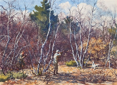 grouse in the birches by aiden lassell ripley