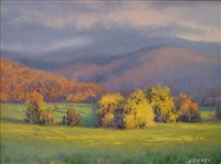 autumn in the valley by michael godfrey