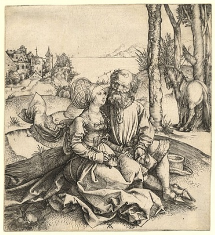 der liebesantrag – the ill-assorted couple by albrecht dürer