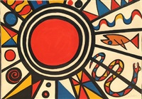 evolution revolution<br>red sun by alexander calder