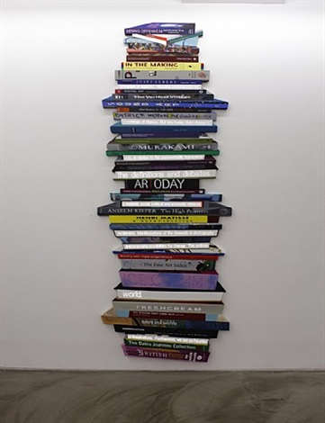 pile of books (vertical) by airan kang